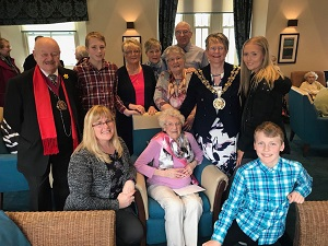 Champagne corks have been popping at a Stalybridge care home