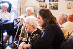 Youth and experience brought together at Northamptonshire care home