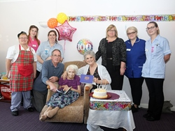 Andover care home resident celebrates 100th birthday